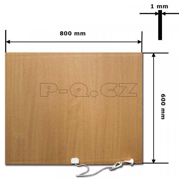 SÁLAVÝ INFRAČERVENÝ TOPNÝ PANEL Rozměr:800x600x1mm Příkon:500w